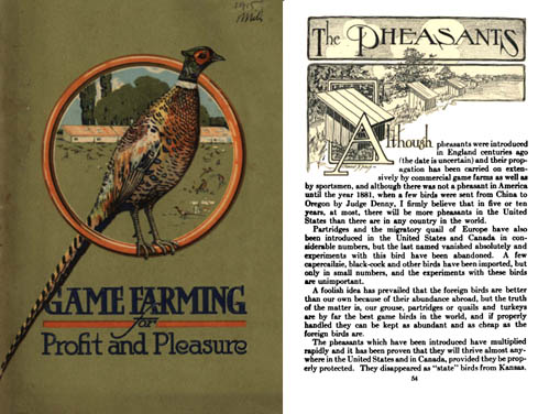 Hercules Powder  1915 - Game Farming  Catalog