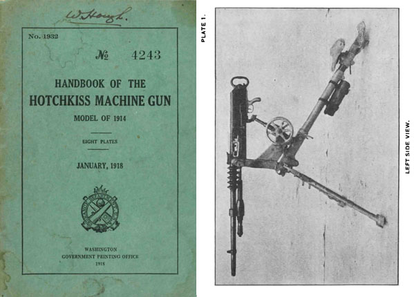 Hotchkiss 1918 Model of 1914 Handbook (U.S. Ord Dept)