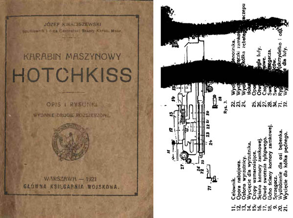 Hotchkiss 1921 Model 1914 Instruction Manual (Polish)