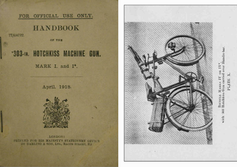 Hotchkiss 1918 Handbook for .303 Machine Gun MK I & I* (UK)