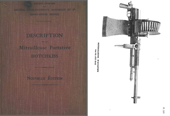 Hotchkiss M1914 Description de la Mitrailleuse Portative- Manual