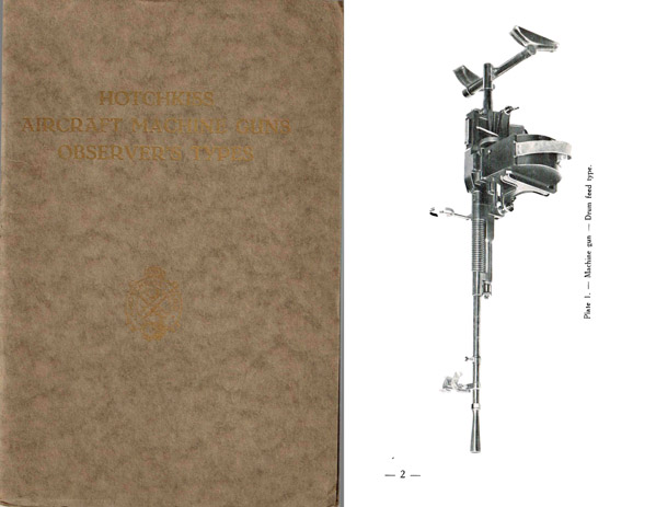 Hotchkiss M1922 Aircraft Type Drum Feed Observer's Gun- Manual