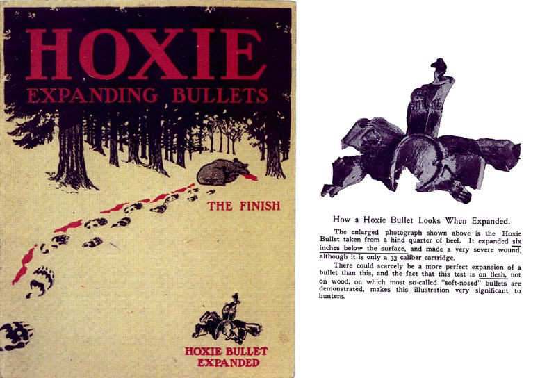 Hoxie Expanding Bullets 1907 Ammunition Catalog