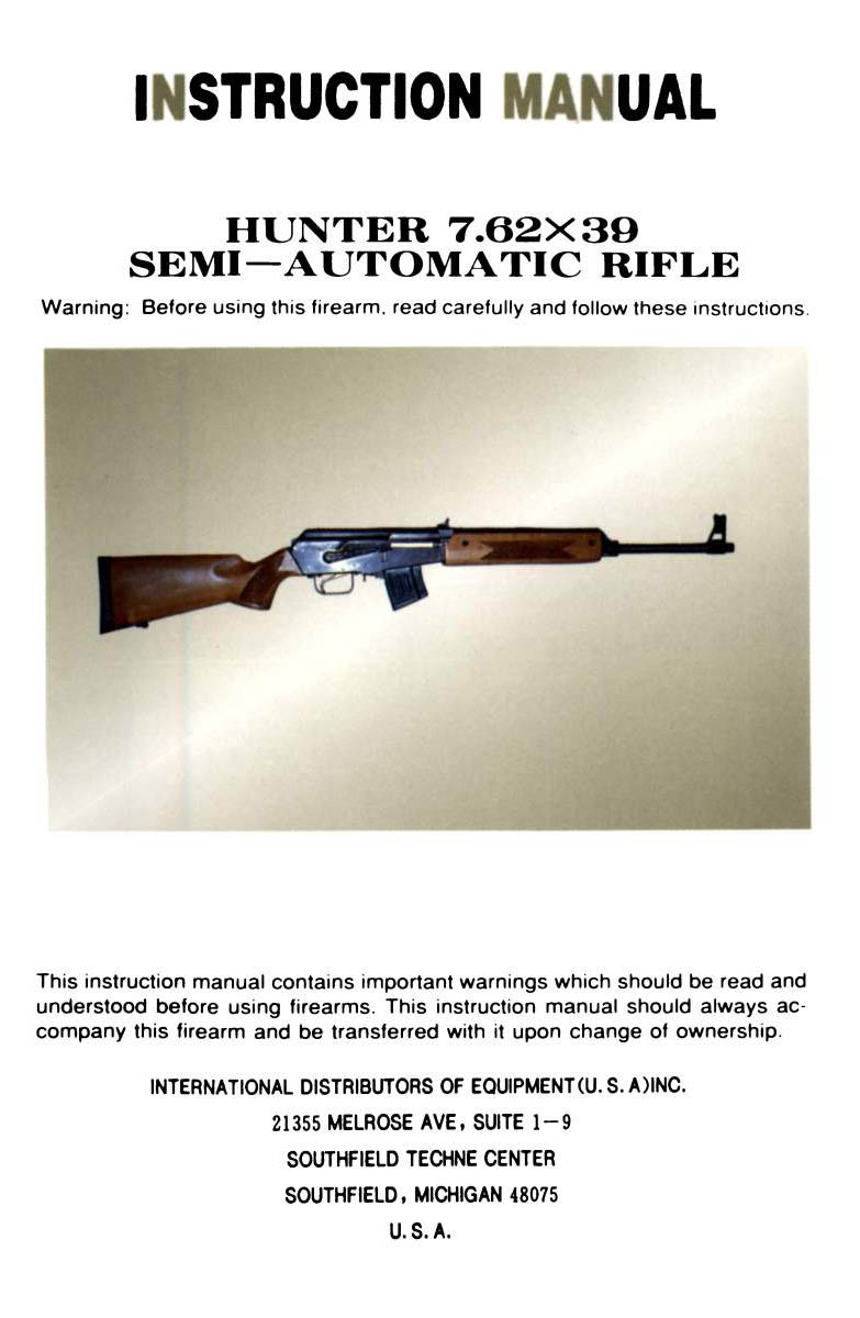Hunter 7.62 Semi-Auto by Norinco Manual