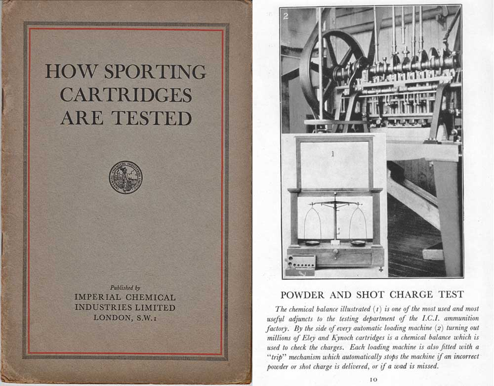 Imperial Chem 1927 Sport Cartridges Testing