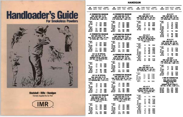 Dupont 1990 IMR Handloader's Guide for Smokeless Powder