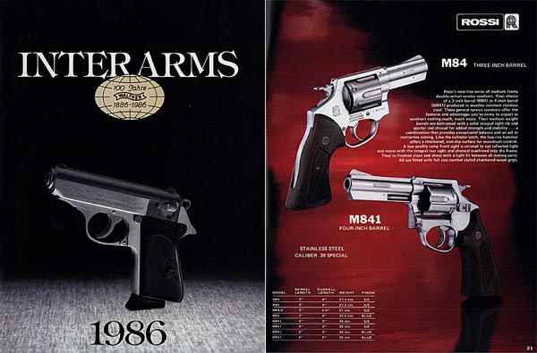 Interarms 1986 Sporting Arms Catalog