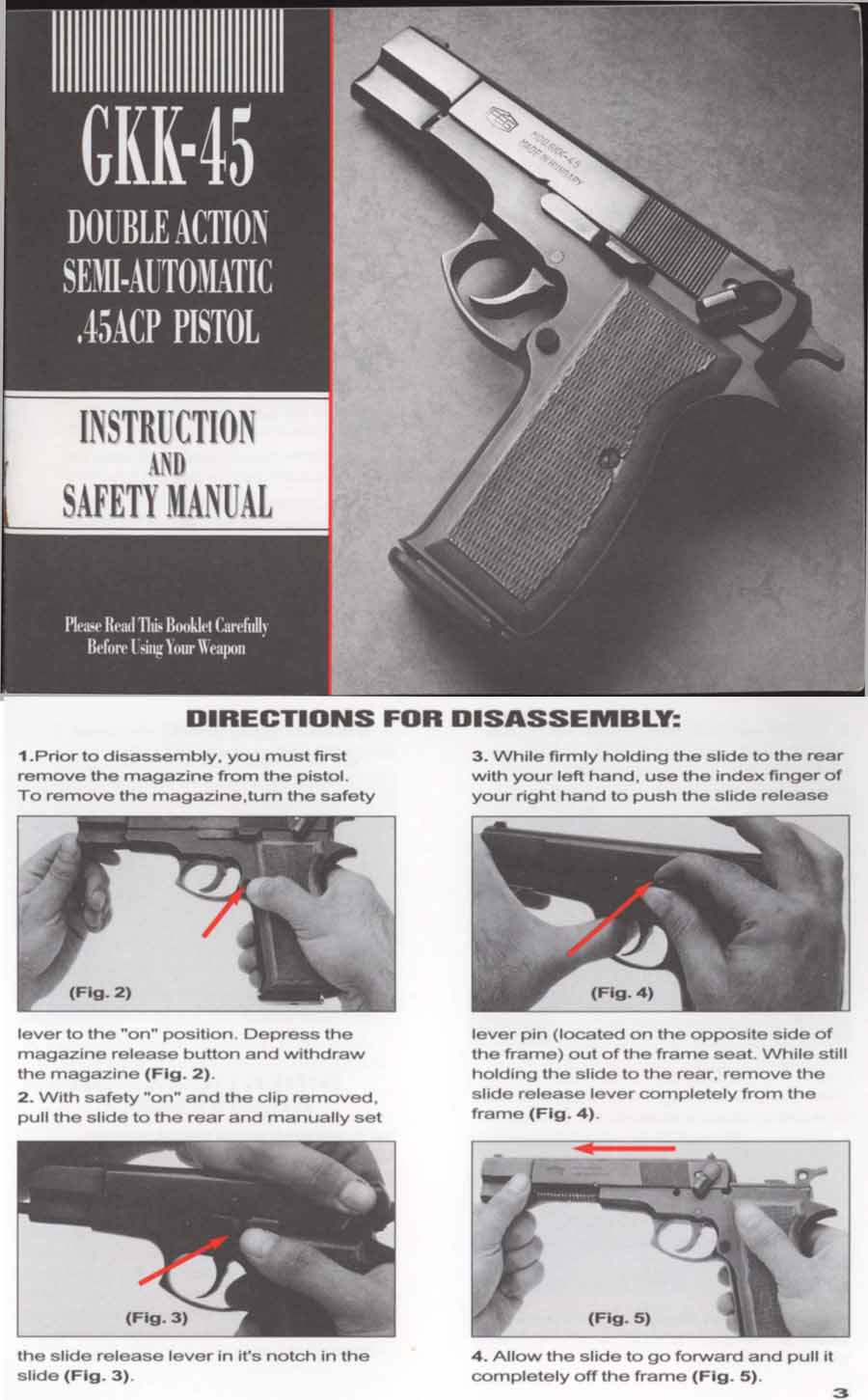 Cornell Publications Llc Old Gun Manuals Featuring Kahr Arms Kimber 1911 Parts Diagram Kbi Gkk 45 Manual