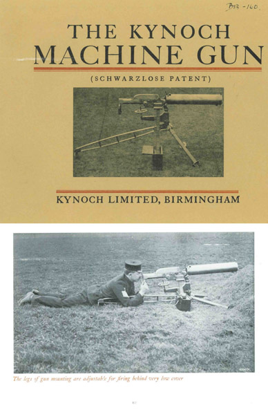 Kynoch 1907 Machine Gun (Schwarzlose Patent)- Manual