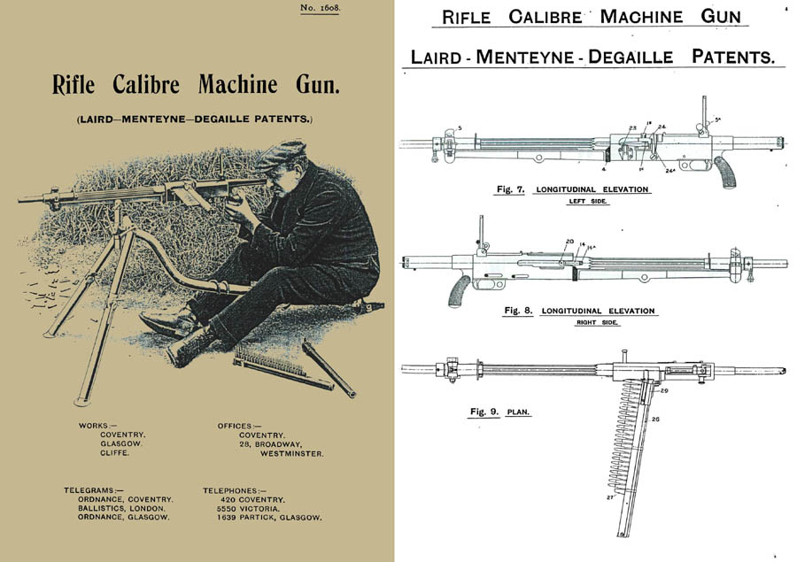 Laird-Menteyne c1913 Degaille Machine Gun Manual (Fr-UK)