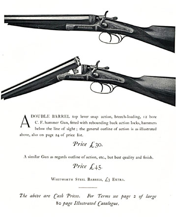 Charles Lancaster Special Pigeon Guns 1901
