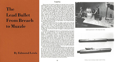 The Lead Bullet from Breech to Muzzle 1979