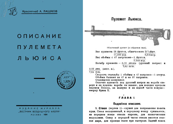Lewis Machine Gun 1924 Russian Manual
