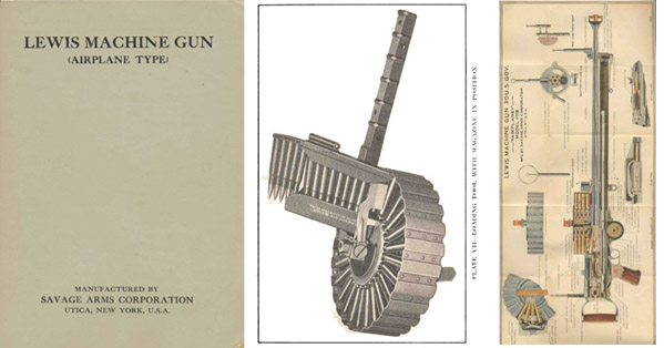 Lewis Machine Gun c1918 (Airplane Type) Savage Arms Co.- Manual
