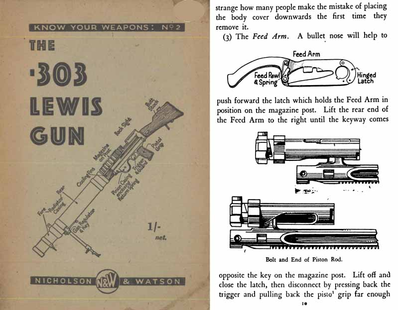 Lewis Gun .303 1941 Operation and Maintenance (UK)