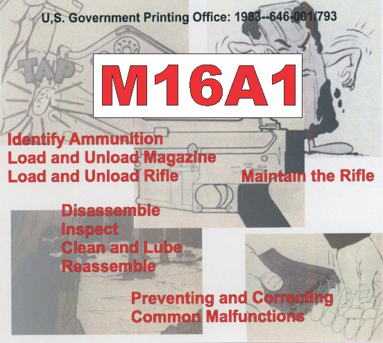 M16A1 Rifle Booklet- US Gov 1983 (four booklets- Complete Manual)