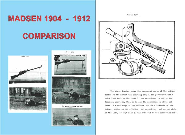 Madsen Comparison M1904 and M1912 English Translation