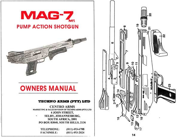 Techno-Arms (PTY) Ltd MAG-7 & M1 Shotgun Manual- South Africa