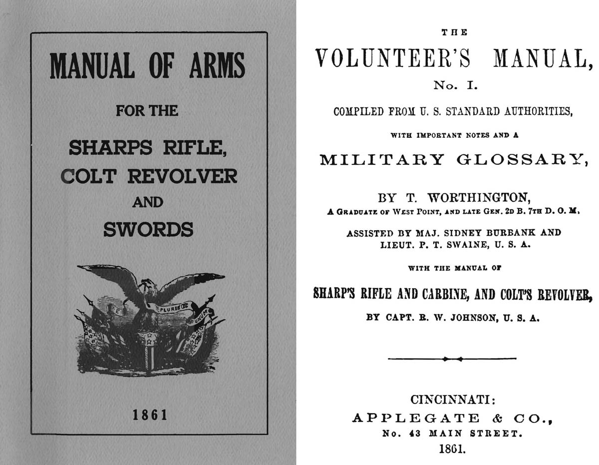Manual of Arms 1861- Sharps Rifle, Colt Revolver & Swords