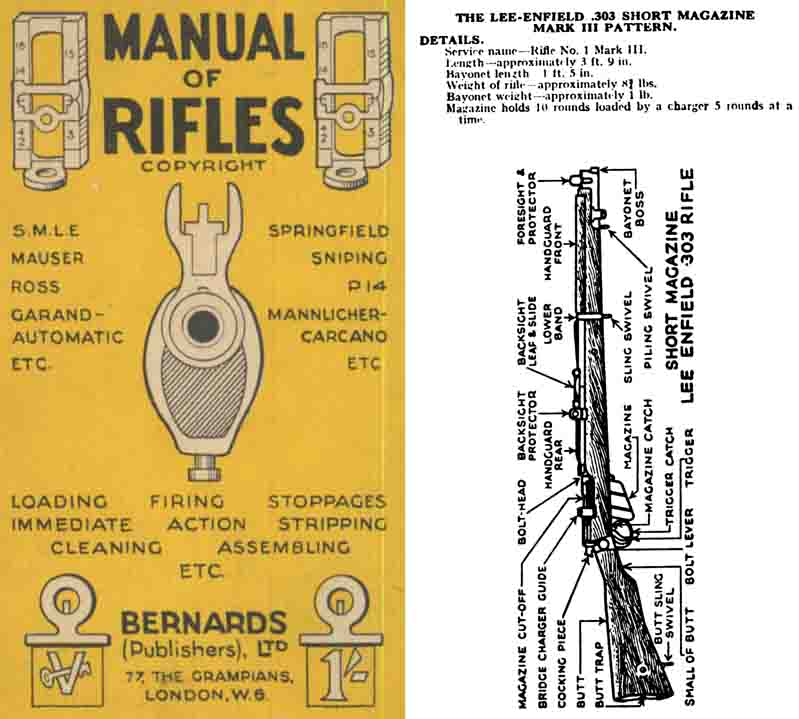 Manual of Rifles c1940- Lee Enfield, P-14, Ross, USM17, Springfield, Garand etc