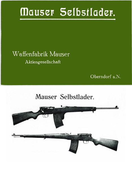 Mauser c1908 Selbstlader Automatic Rifle Manual