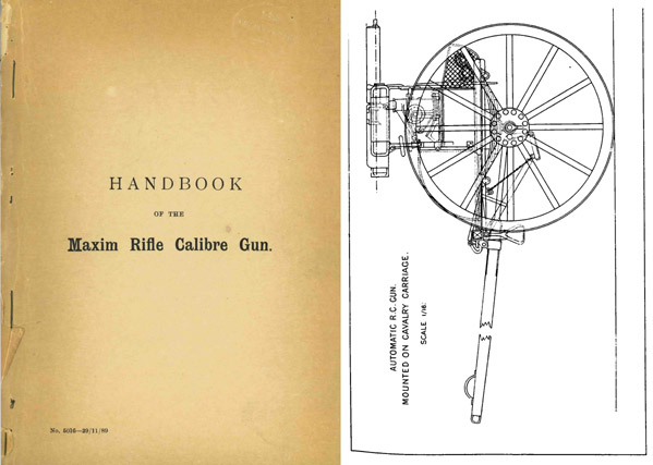 Maxim 1889 Rifle Cal. Machine Gun Handbook (UK)