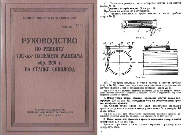 Maxim 1958 Repair Manual M1910 (in Russian)