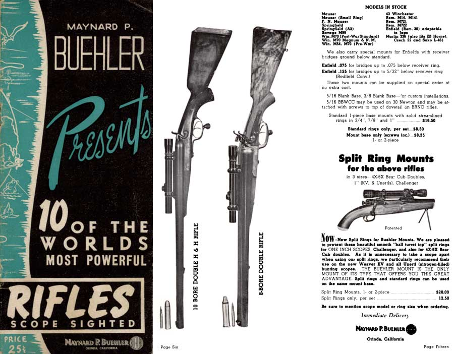 Maynard P Buehler c1963 High Power Rifles & Access., Orinda, CA.