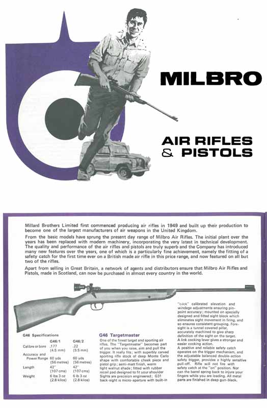Milbro c1969 Air Rifles and Pistols - Motherwell, Scotland