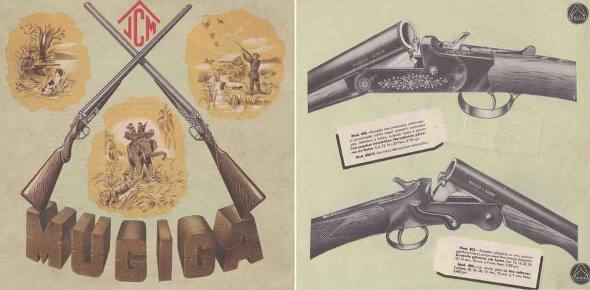 Mugica Escopetas- Shotgun Catalog 1955 Eibar, Spain