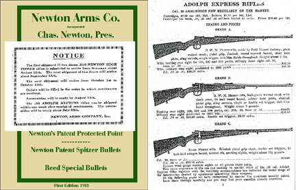 Newton Arms Co. 1915 1st Edition