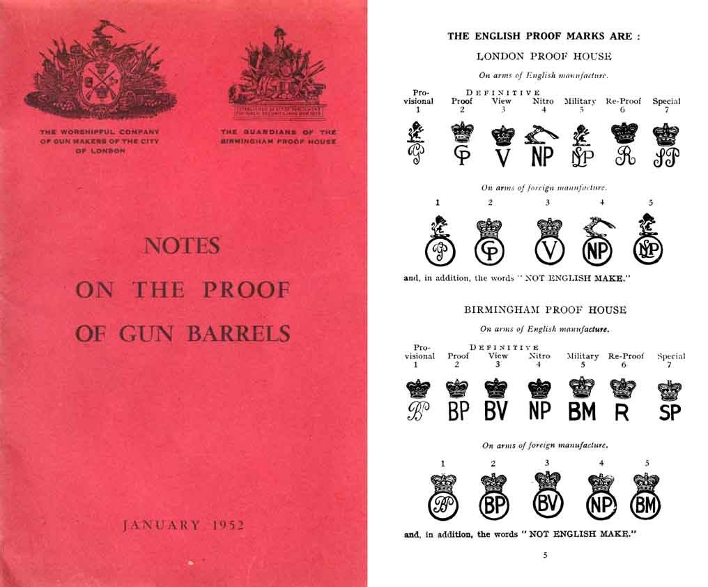 Notes on the Proof of Gun Barrels 1952 Illustrated
