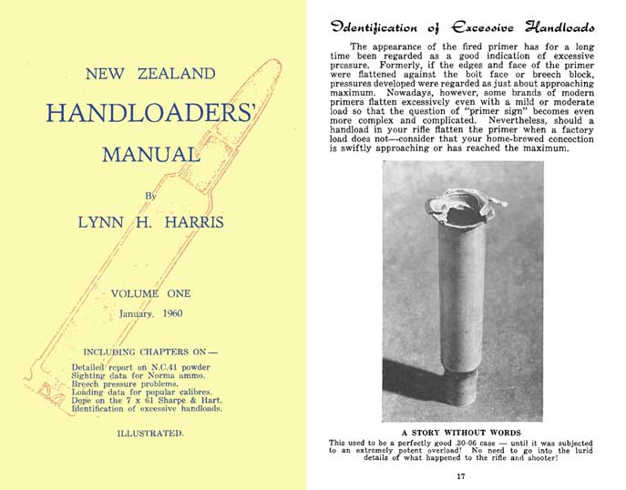 New Zealand 1960 Handloader's Manual Vol.I