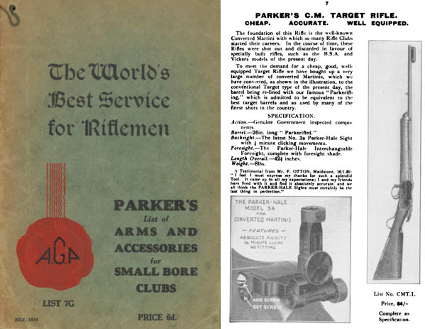 Parker 1930, AG & Co  Arms & Access. Small Bore Clubs Catalog
