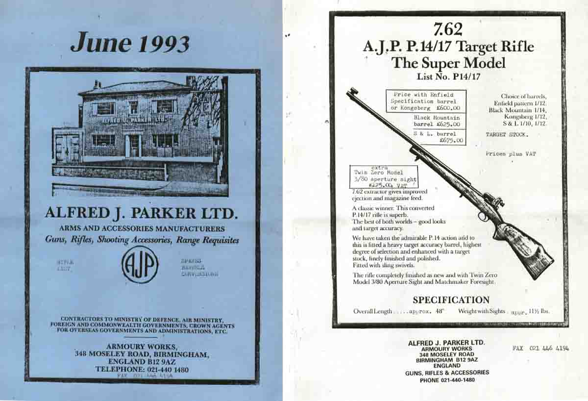 Parker 1993, Alfred J. Gun and Accessory Catalog