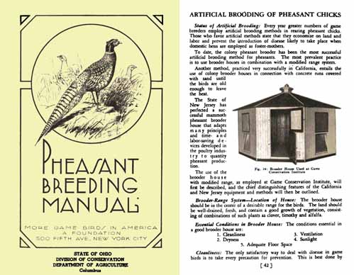 Pheasant Breeding Manual 1936 - Ohio State Conservation