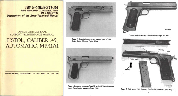 M1911A1 1964 .45 Pistol Direct and Support Maintenance Manual