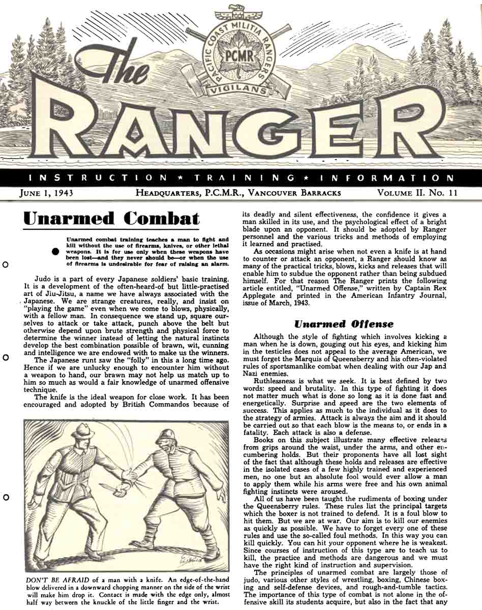 The Ranger, June 1 1943, HQ PCMR, Vancouver, Barracks, Canada