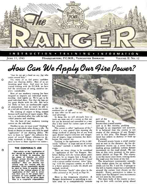 The Ranger, June 15, 1943, HQ PCMR, Vancouver, Barracks, Canada
