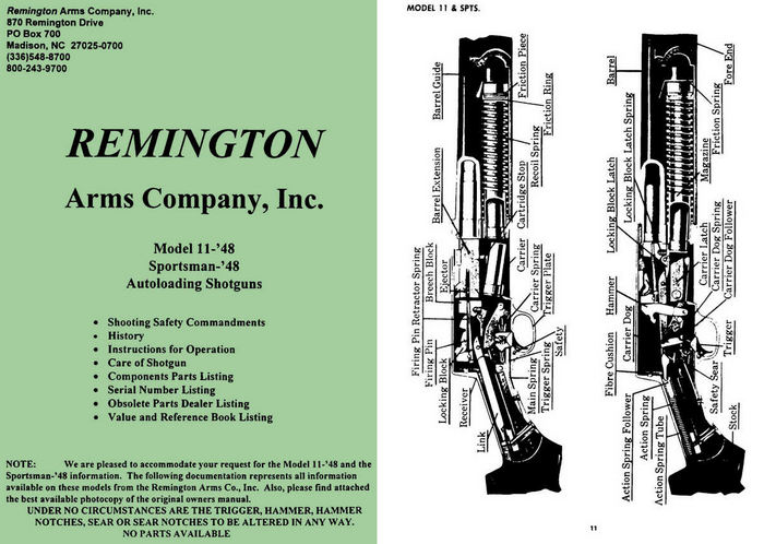 Remington Model 11- '48 Manual