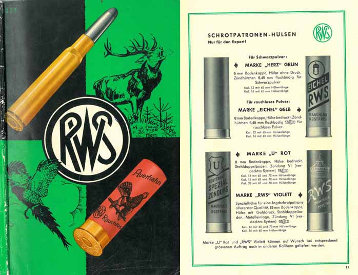 RWS 1953 Munitions Catalog