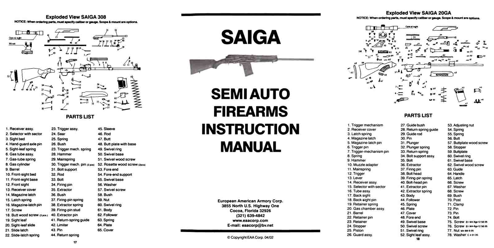 Cornell Publications LLC | Old Gun Manuals - featuring Sabatti ...