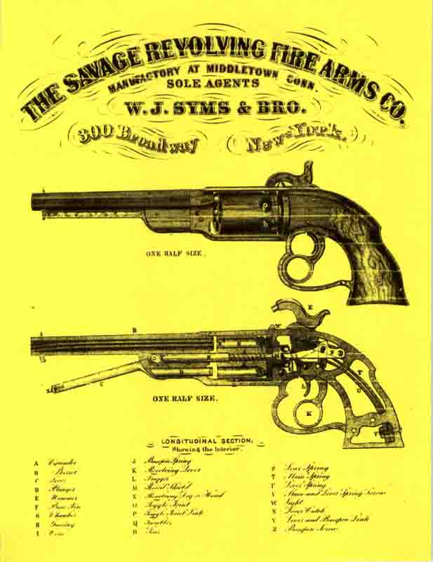 Savage, Edward N. c1861 Revolving Firearms  Flyer- Manual