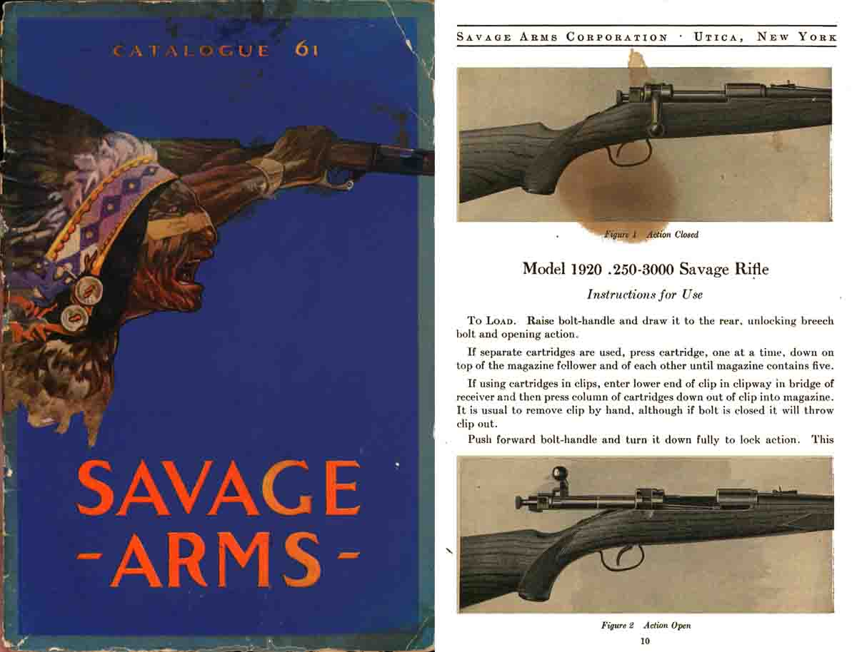 Savage 1921 Arms Corporation No. 61 Catalog (later copy)