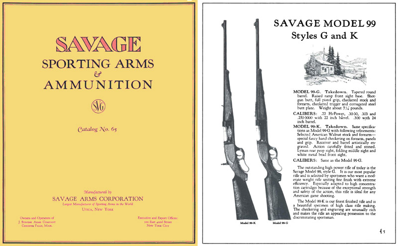 Savage 1928 No 65 Sporting Arms and Ammunition