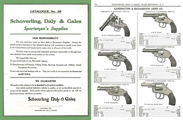 Schoverling, Daly & Gales 1926 Gun Catalog