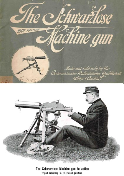 Schwarzlose 1907 Machine Gun. Syeyr (Austria- in English)- Manual