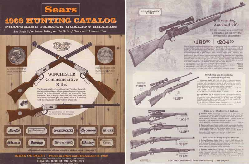Sears 1969 Hunting Catalog