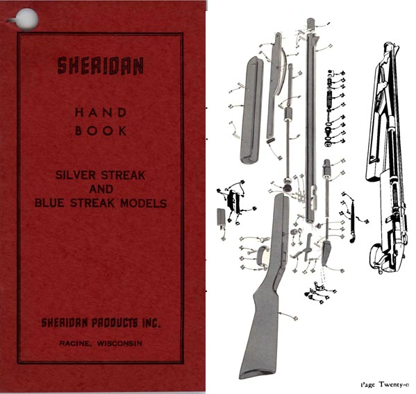 Sheridan Nov. 1970 Blue Streak and Silver Streak Air Gun Manual