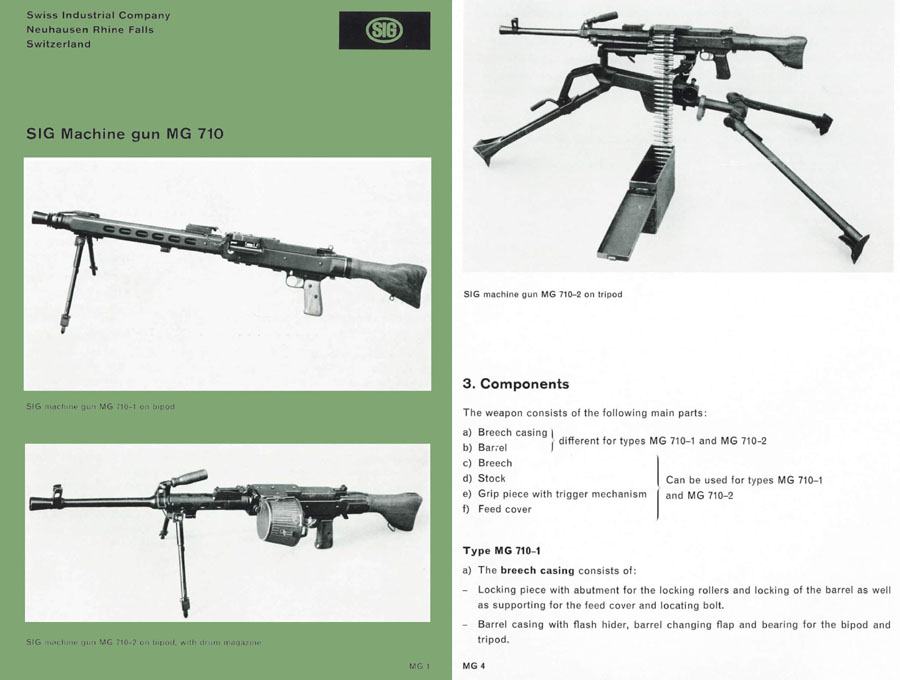 SIG MG710 Machine Gun Manual